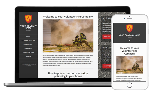 Desktop and mobile view of our Engine 5 template